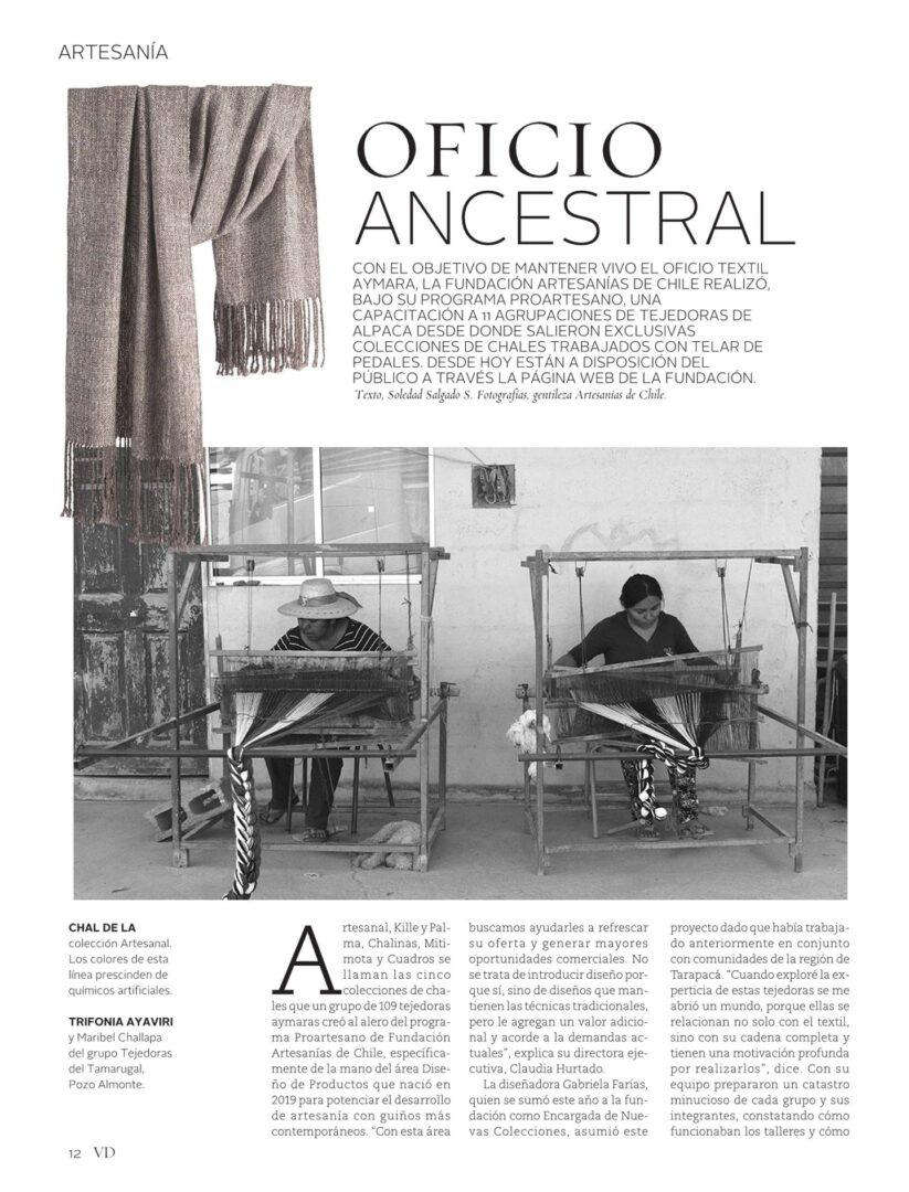 OFICIO ANCESTRAL – Revista Vivienda y Decoración