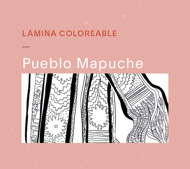 Lámina coloreable Mapuche