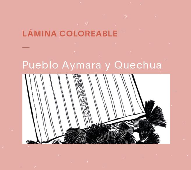 Lámina Coloreable Aymara y Quechua