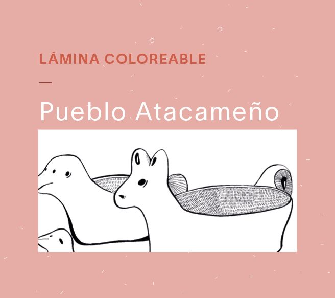 Láminas coloreables – Atacameño