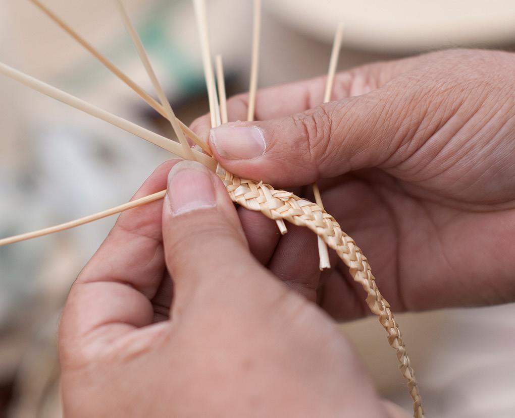 Cestería en paja de trigo