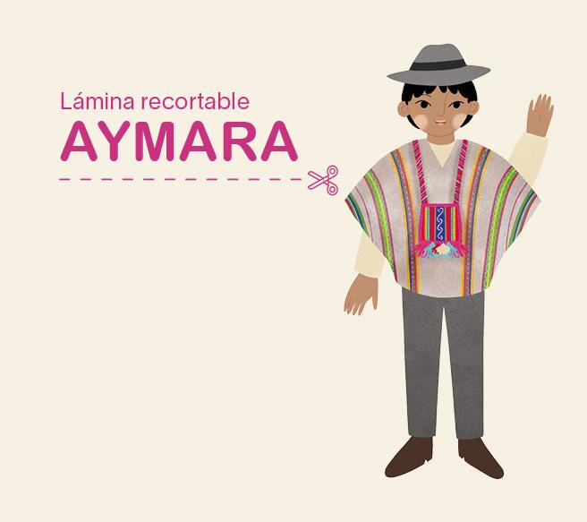 Lámina recortable – niño Aymara