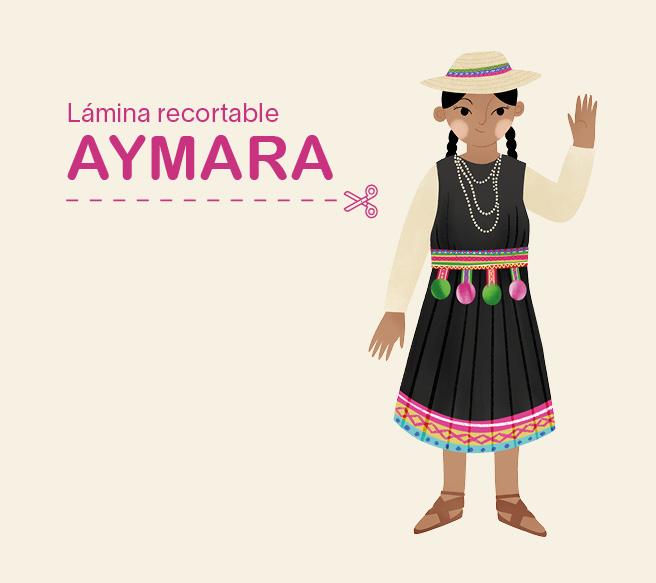 Lámina recortable – niña Aymara