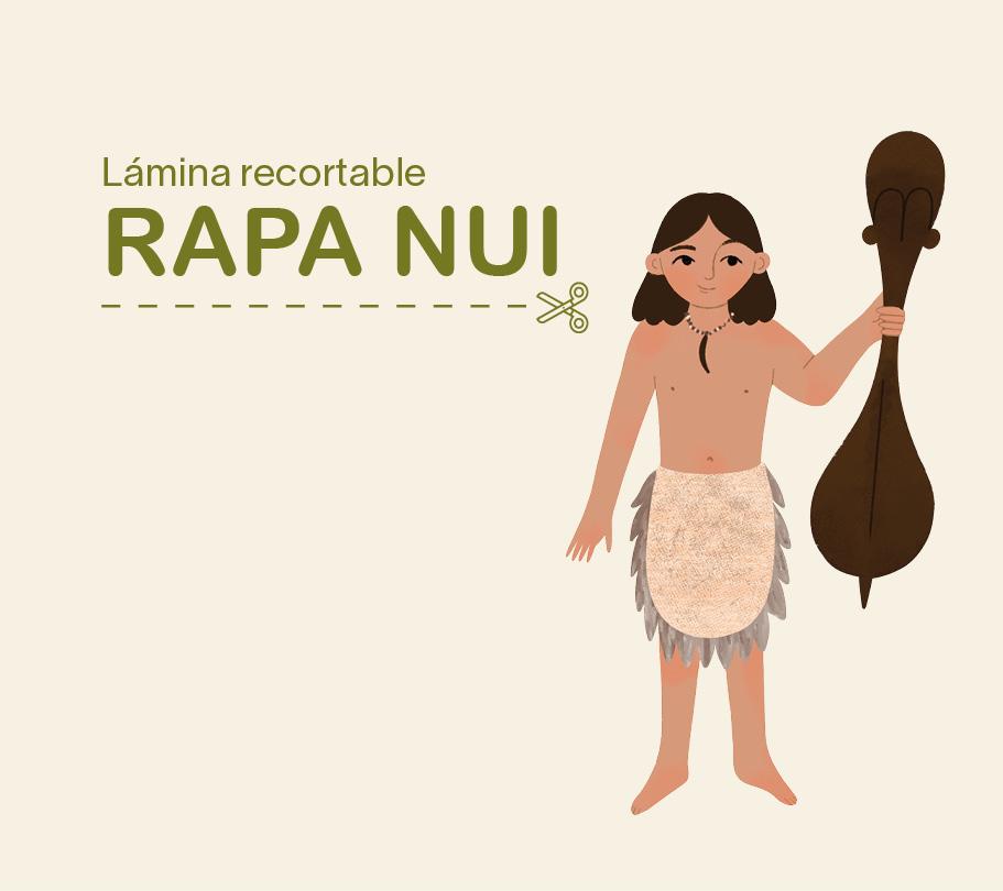 Lámina recortable – niño Rapa Nui