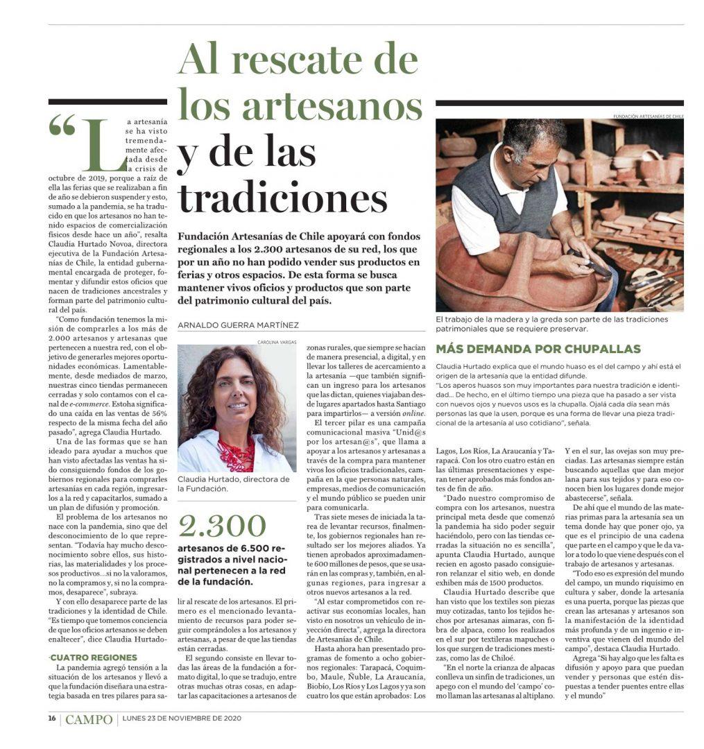 AL RESCATE DE LOS ARTESANOS Y LAS TRADICIONES – REVISTA EL CAMPO
