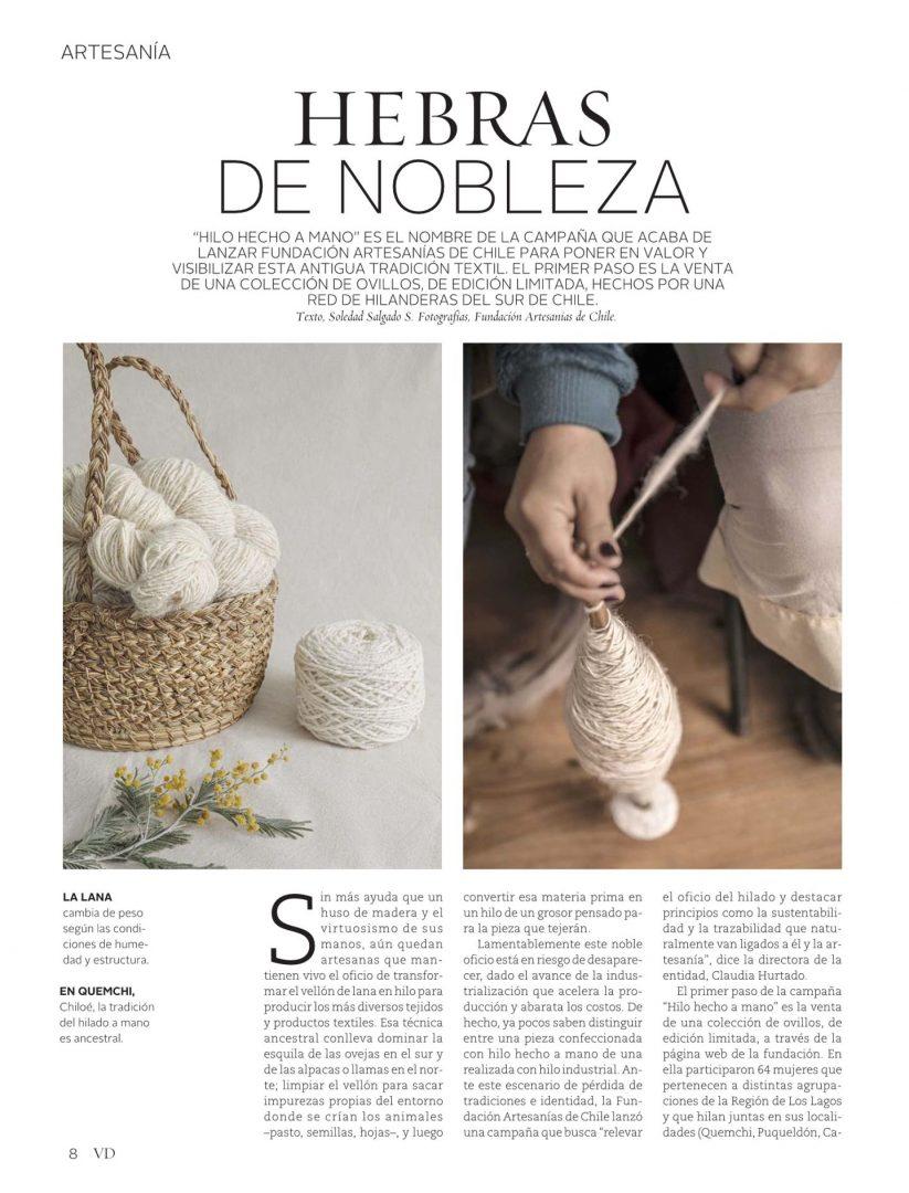 Hebras De Nobleza Vivienda Y Decoración Artesanías De Chile Tienda Online